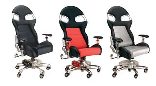PItStop Chairs Blk,Red,Silv